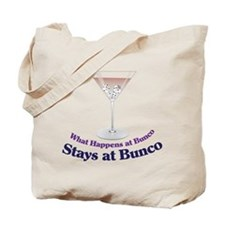 What Happens at Bunco Tote Bag