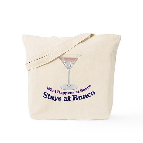 What Happens at Bunco Tote Bag
