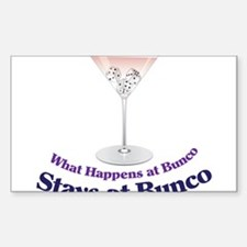 What Happens at Bunco Decal
