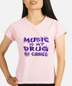 Music Is My Drug (pr) Performance Dry T-Shirt