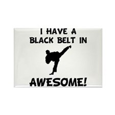 Black Belt Awesome Rectangle Magnet (10 pack)