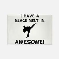 Black Belt Awesome Rectangle Magnet (10 pack)