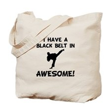 Black Belt Awesome Tote Bag