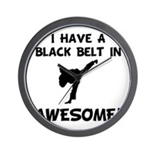 Black Belt Awesome Wall Clock