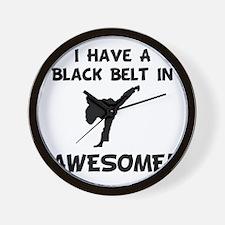 Black Belt Awesome Wall Clock