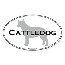 Australian Cattle Dog Oval Decal