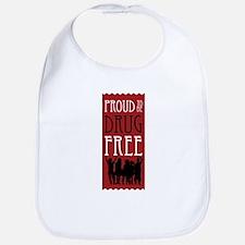 Proudly Drug Free Bib