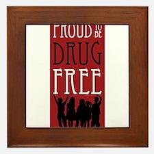 Proudly Drug Free Framed Tile