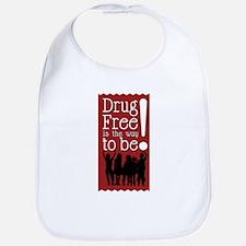 Red Ribbon Drug Free Bib