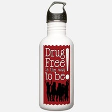 Red Ribbon Drug Free Water Bottle
