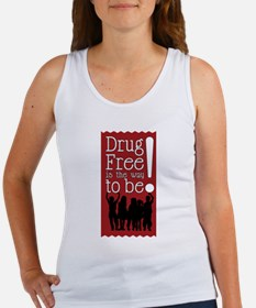Red Ribbon Drug Free Women's Tank Top