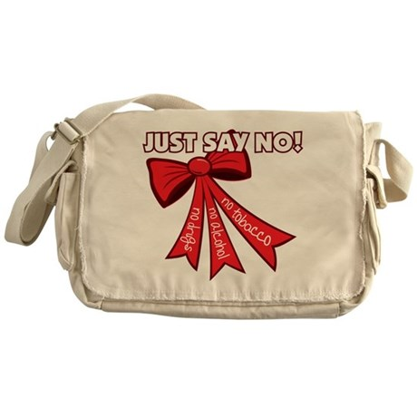 Just Say No Messenger Bag