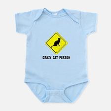 Crazy Cat Person Infant Bodysuit