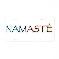 Unique Namaste Aluminum License Plate