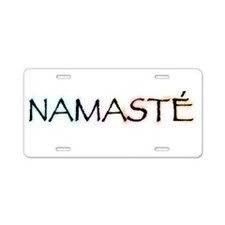 Cute Namaste Aluminum License Plate