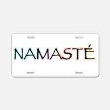 Cute Namaste Aluminum License Plate