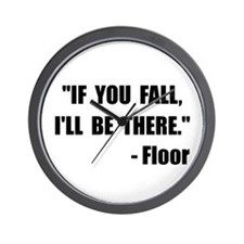 Fall Floor Quote Wall Clock