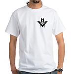 Masonic Bold & Black S&C White T-Shirt