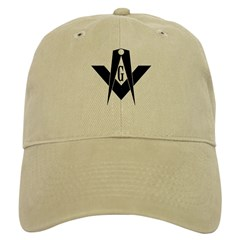 Masonic Bold & Black S&C Baseball Cap