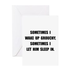Grouchy Sleep Greeting Card