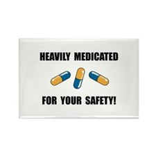 Heavily Medicated Rectangle Magnet (10 pack)