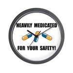 Heavily Medicated Wall Clock