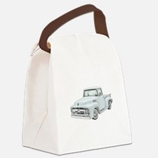 1956 Ford Truck in blue.png Canvas Lunch Bag