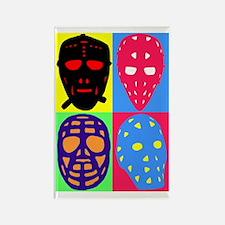 Vintage Hockey Goalie Masks Rectangle Magnet
