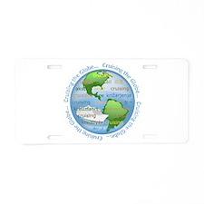 Cruising The Globe Aluminum License Plate