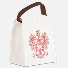 Polish Eagle Outlined In Red Canvas Lunch Bag