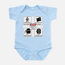 """Baby Warnings"" Infant Creeper"
