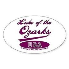 Lake of the Ozarks Oval Bumper Stickers