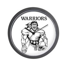 Warriors Wall Clock