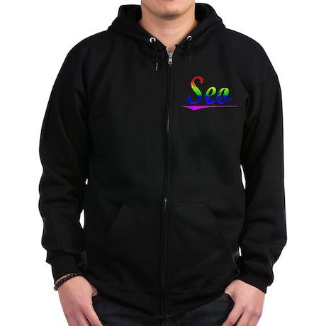 Seo, Rainbow, Zip Hoodie (dark)