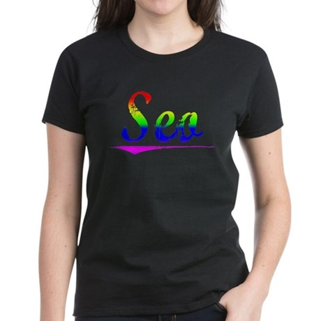 Seo, Rainbow, Women's Dark T-Shirt