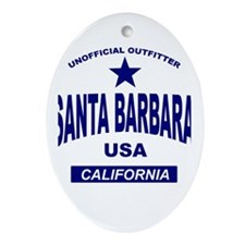Santa Barbara Oval Ornament
