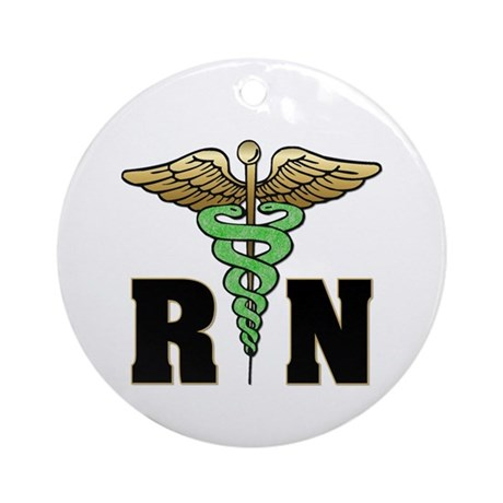 RN / Nurse Ornament (Round)