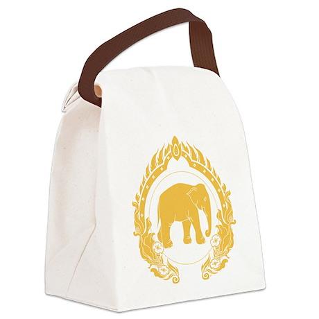 Thai Elephant Canvas Lunch Bag