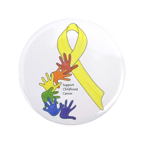 "Support Childhood Cancer 3.5"" Button"