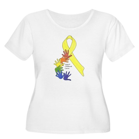 Support Childhood Cancer Women's Plus Size Scoop N