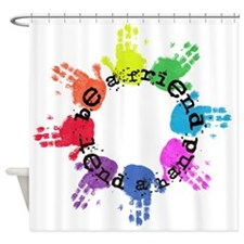 Be a Friend, Lend a Hand Shower Curtain