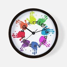 Be a Friend, Lend a Hand Wall Clock