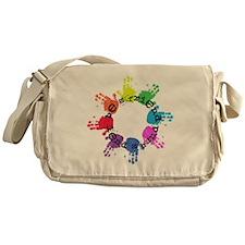 Be a Friend, Lend a Hand Messenger Bag