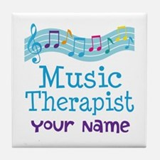 Personalized Music Therapist Tile Coaster