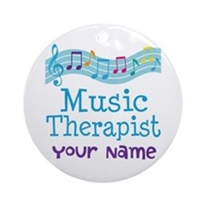 Personalized Music Therapist Ornament (Round)