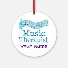 Personalized Music Therapist Ornament (Round)