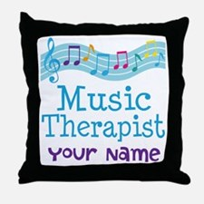 Personalized Music Therapist Throw Pillow