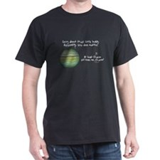 Jupiter and Pluto Black T-Shirt