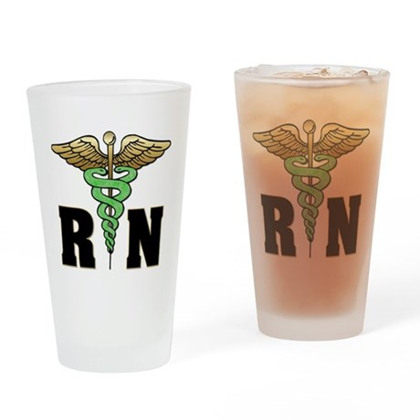 RN / Nurse Drinking Glass