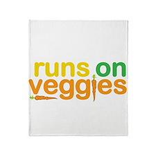 Runs On Veggies Throw Blanket